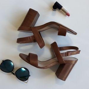 ALDO Brown Strappy Block Heels Sandal